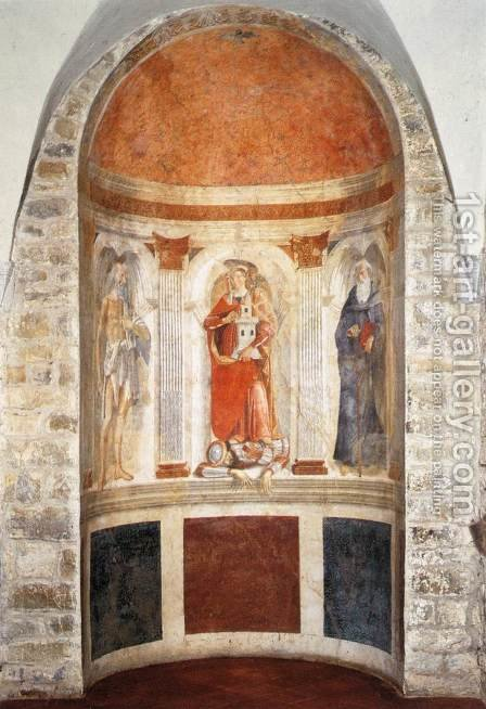 Apse Fresco by Domenico Ghirlandaio - Reproduction Oil Painting