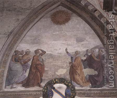 Meeting of Augustus and the Sibyl c. 1485 by Domenico Ghirlandaio - Reproduction Oil Painting