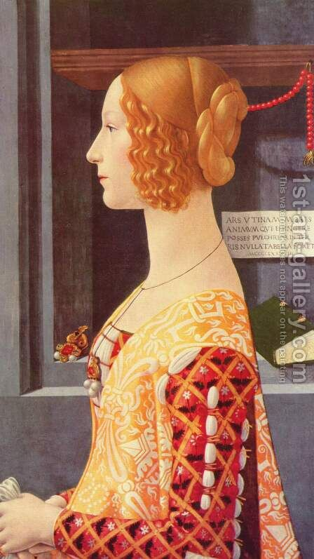 Portrait of Giovanna Tornabuoni 1488 by Domenico Ghirlandaio - Reproduction Oil Painting