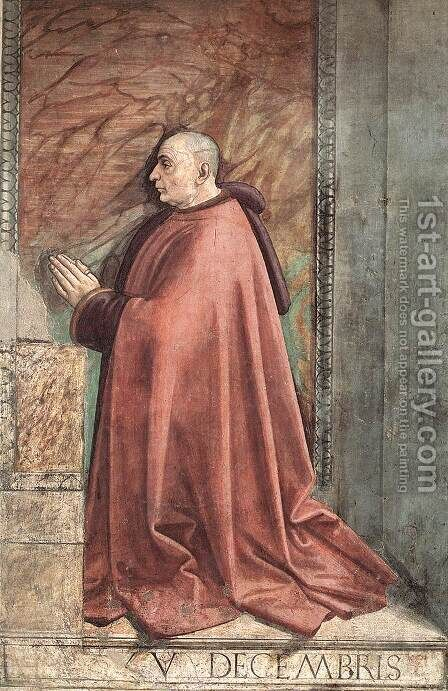 Portrait of the Donor Francesco Sassetti c. 1485 by Domenico Ghirlandaio - Reproduction Oil Painting