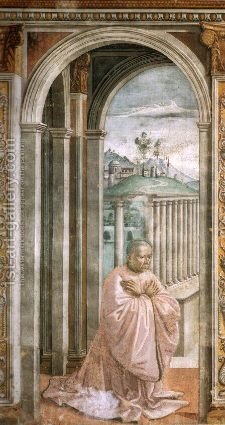 Portrait Of The Donor Giovanni Tornabuoni by Domenico Ghirlandaio - Reproduction Oil Painting