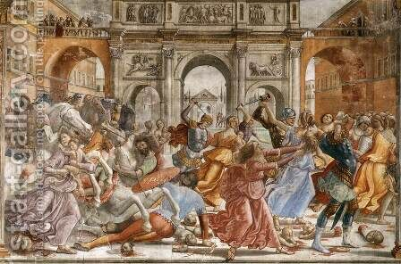 Slaughter of the Innocents 1485-90 by Domenico Ghirlandaio - Reproduction Oil Painting