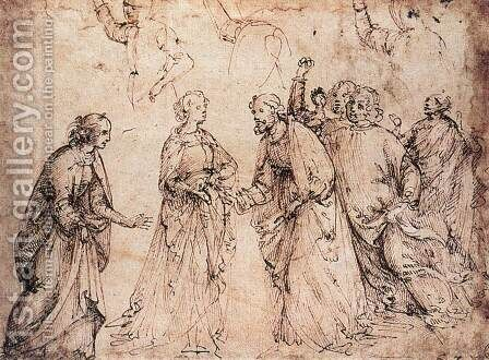 Study (2)  1486 by Domenico Ghirlandaio - Reproduction Oil Painting