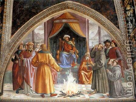 Test of Fire before the Sultan 1482-85 by Domenico Ghirlandaio - Reproduction Oil Painting