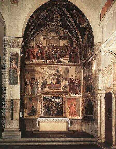 View Of The Sassetti Chapel by Domenico Ghirlandaio - Reproduction Oil Painting