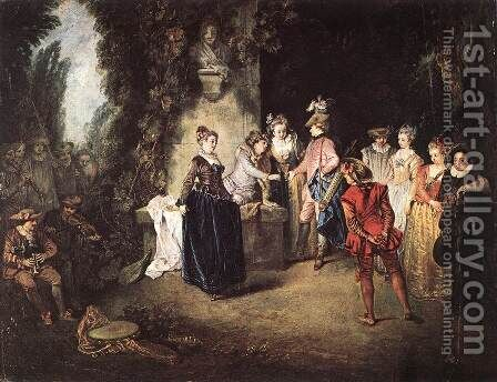 The French Comedy 1714 by Jean-Antoine Watteau - Reproduction Oil Painting