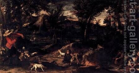 Hunting 1595 by Annibale Carracci - Reproduction Oil Painting