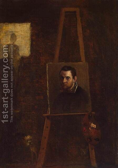 Self-Portrait c. 1604 by Annibale Carracci - Reproduction Oil Painting