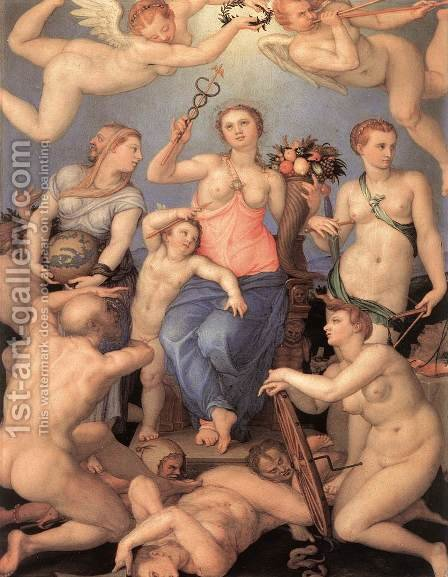 Allegory of Happiness 1564 by Agnolo Bronzino - Reproduction Oil Painting