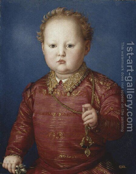 Don Garcia de' Medici 1550 by Agnolo Bronzino - Reproduction Oil Painting