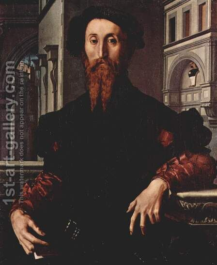 Portrait of Bartolomeo Panciatichi c. 1540 by Agnolo Bronzino - Reproduction Oil Painting