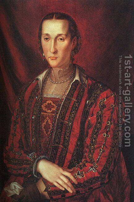 Portrait of Eleanora di Toledo 1560 by Agnolo Bronzino - Reproduction Oil Painting