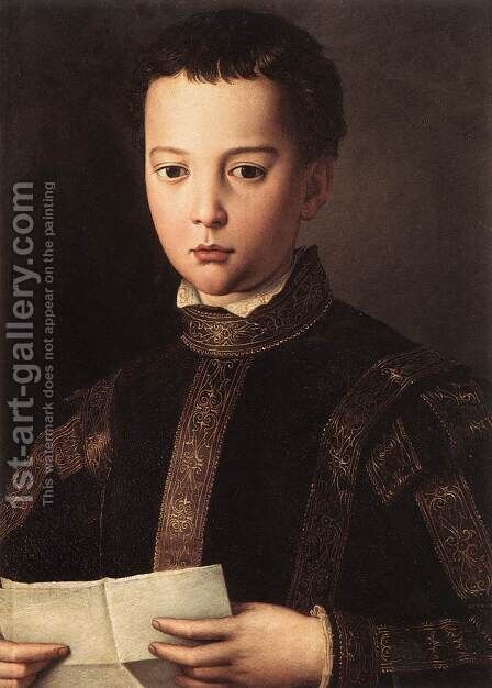 Portrait of Francesco I de' Medici 1551 by Agnolo Bronzino - Reproduction Oil Painting