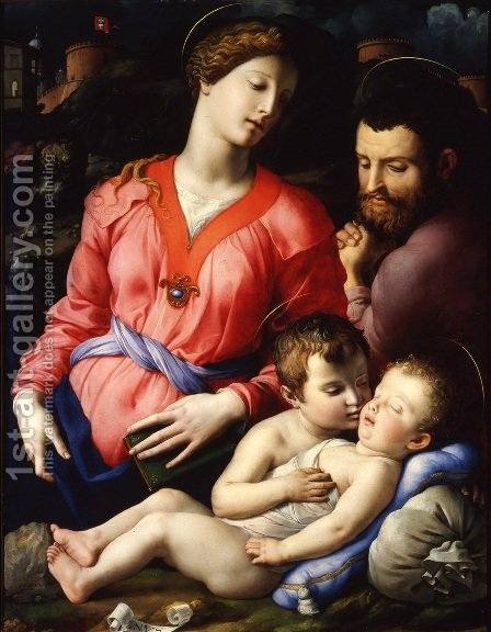 The Panciatichi Holy Family by Agnolo Bronzino - Reproduction Oil Painting