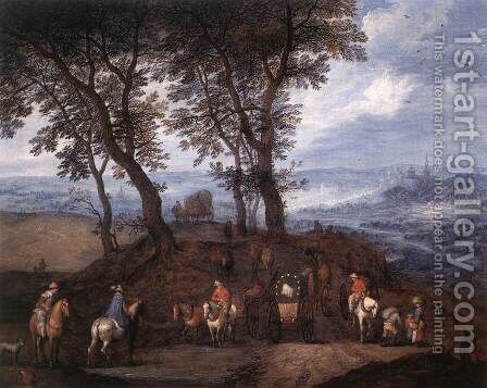 Travellers On The Way by Jan The Elder Brueghel - Reproduction Oil Painting
