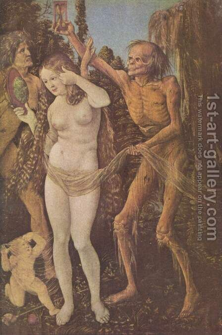 Three Ages Of The Woman And The Death 1510 by Hans Baldung  Grien - Reproduction Oil Painting