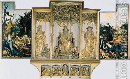 Isenheim Altarpiece (third View) 1515 by Matthias Grunewald (Mathis Gothardt) - Reproduction Oil Painting