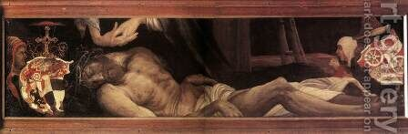 Lamentation of Christ  c. 1523 by Matthias Grunewald (Mathis Gothardt) - Reproduction Oil Painting
