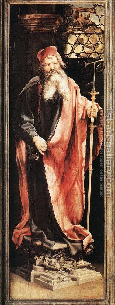 St Antony the Hermit c. 1515 by Matthias Grunewald (Mathis Gothardt) - Reproduction Oil Painting