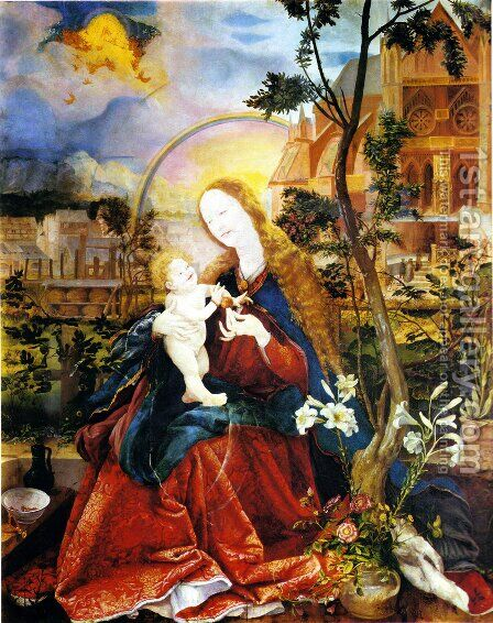 Stuppach Madonna 1517-19 by Matthias Grunewald (Mathis Gothardt) - Reproduction Oil Painting