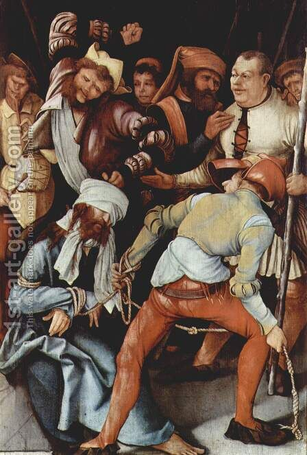 The Mocking of Christ 1503 by Matthias Grunewald (Mathis Gothardt) - Reproduction Oil Painting