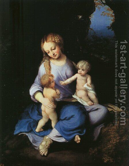 Madonna and Child with the Young Saint John 1516 by Correggio (Antonio Allegri) - Reproduction Oil Painting
