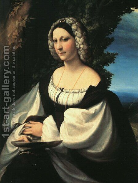 Portrait of a Gentlewoman 1517 by Correggio (Antonio Allegri) - Reproduction Oil Painting