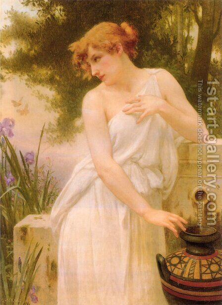 Beauty At The Well by Guillaume Seignac - Reproduction Oil Painting