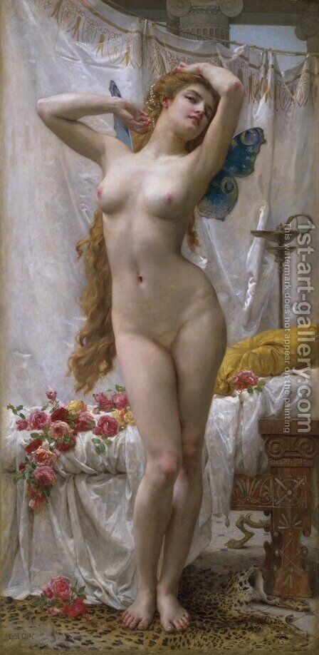 The Awakening Of Psyche by Guillaume Seignac - Reproduction Oil Painting