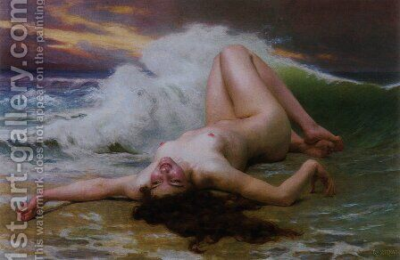 The Wave by Guillaume Seignac - Reproduction Oil Painting