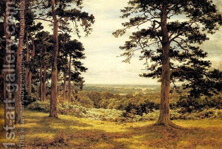 A Peep Through The Pines by Benjamin Williams Leader - Reproduction Oil Painting