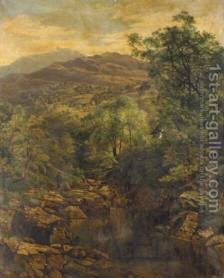 A Quiet Pool In Glenfalloch by Benjamin Williams Leader - Reproduction Oil Painting