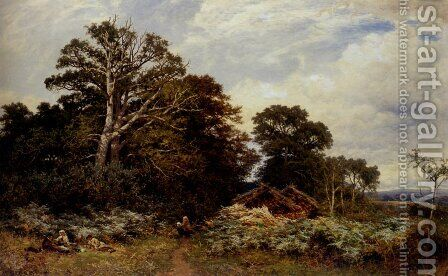 A Surrey Woodland by Benjamin Williams Leader - Reproduction Oil Painting