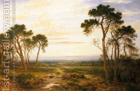 Across The Heath by Benjamin Williams Leader - Reproduction Oil Painting