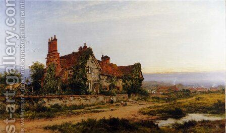 An Old Surrey Home by Benjamin Williams Leader - Reproduction Oil Painting
