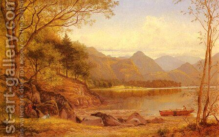 Derwentwater by Benjamin Williams Leader - Reproduction Oil Painting