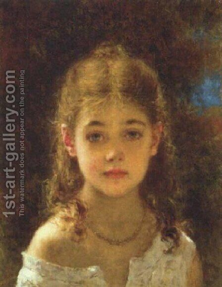 Mignon by Alexei Alexeivich Harlamoff - Reproduction Oil Painting