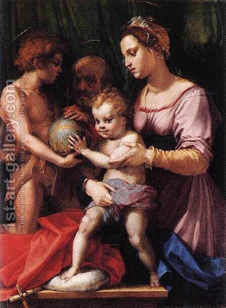 Holy Family (Borgherini) 1529 by Andrea Del Sarto - Reproduction Oil Painting