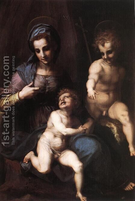 Madonna and Child with the Young St John 1518 by Andrea Del Sarto - Reproduction Oil Painting