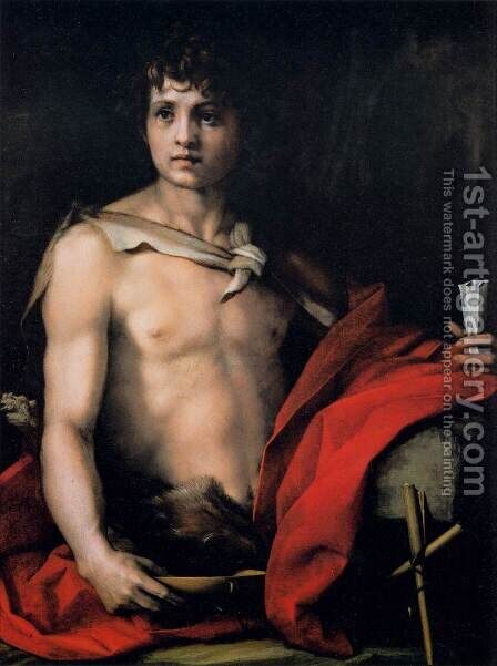 St  John The Baptist 1528 by Andrea Del Sarto - Reproduction Oil Painting