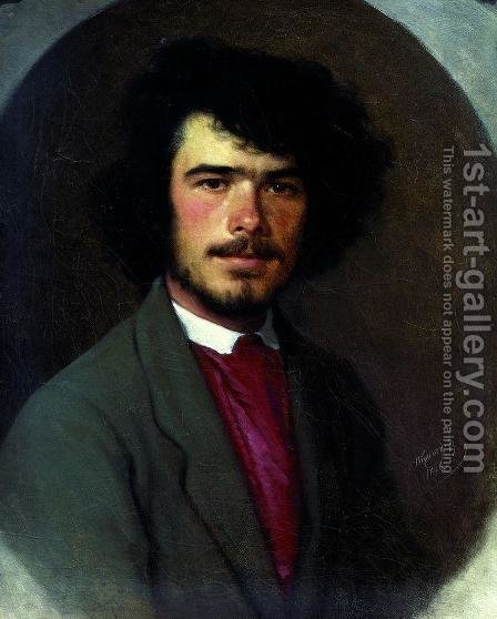 Portrait Of The Agronomist Vyunnikov by Ivan Nikolaevich Kramskoy - Reproduction Oil Painting