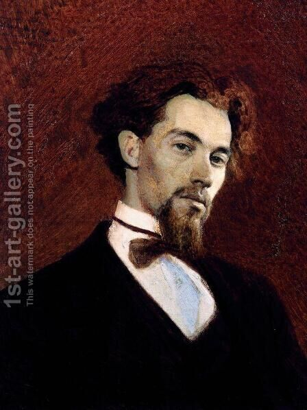 Portrait Of The Artist Konstantin Savitsky by Ivan Nikolaevich Kramskoy - Reproduction Oil Painting