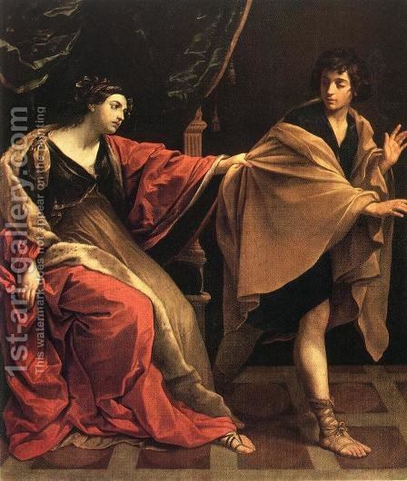Joseph and Potiphar's Wife c. 1631 by Guido Reni - Reproduction Oil Painting