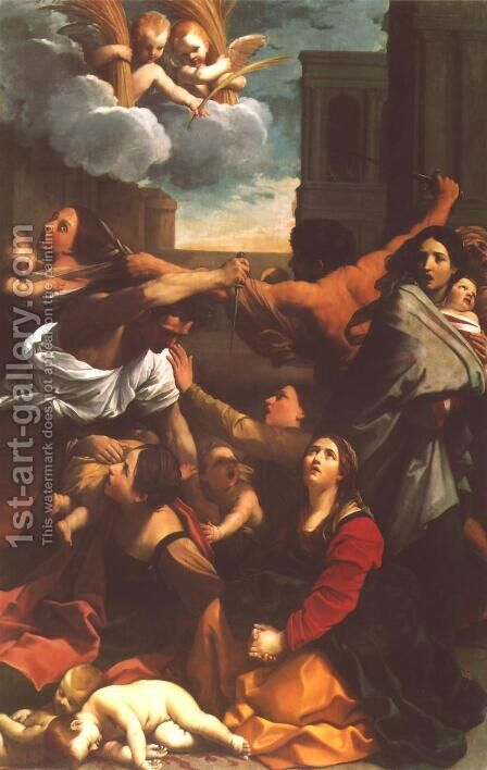 Massacre of the Innocents 1611 by Guido Reni - Reproduction Oil Painting