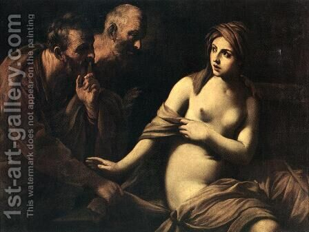Susanna and the Elders c. 1620 by Guido Reni - Reproduction Oil Painting