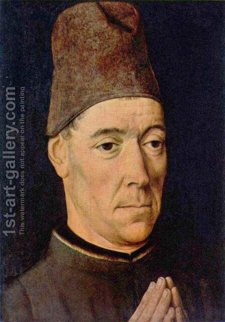 Portrait of a Man 1460-70 by Dieric the Elder Bouts - Reproduction Oil Painting