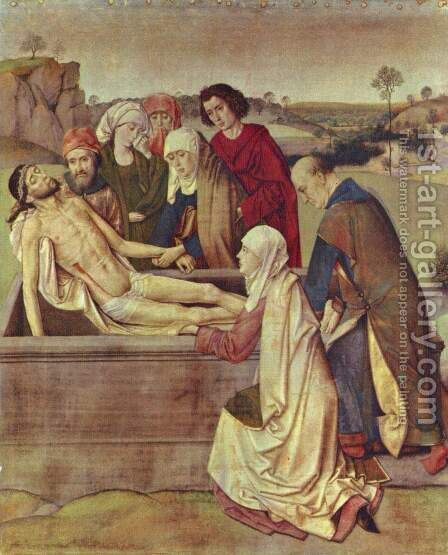 The Entombment c. 1450 by Dieric the Elder Bouts - Reproduction Oil Painting