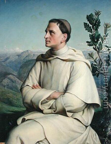 Henri Lacordaire At Sorreze by Anne-Francois-Louis Janmot - Reproduction Oil Painting