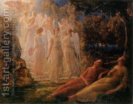 Le Pocme De L Ame   L Echelle D Or by Anne-Francois-Louis Janmot - Reproduction Oil Painting