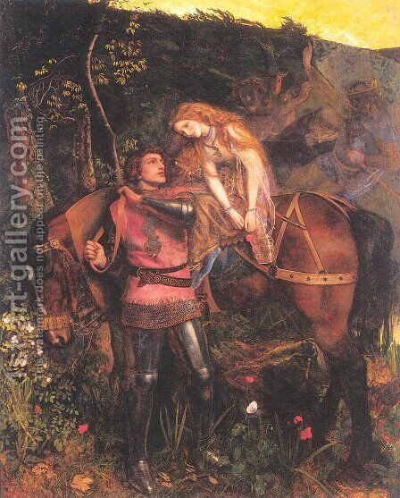 La Belle Dame Sans Merci 1861-63 by Arthur Hughes - Reproduction Oil Painting